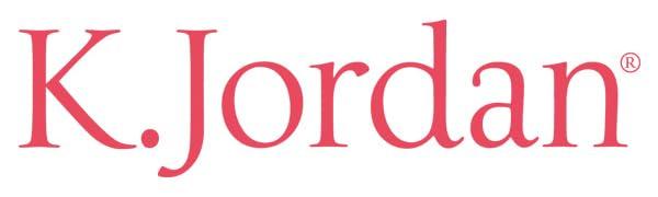 Image of K. Jordan brand logo in pink text.