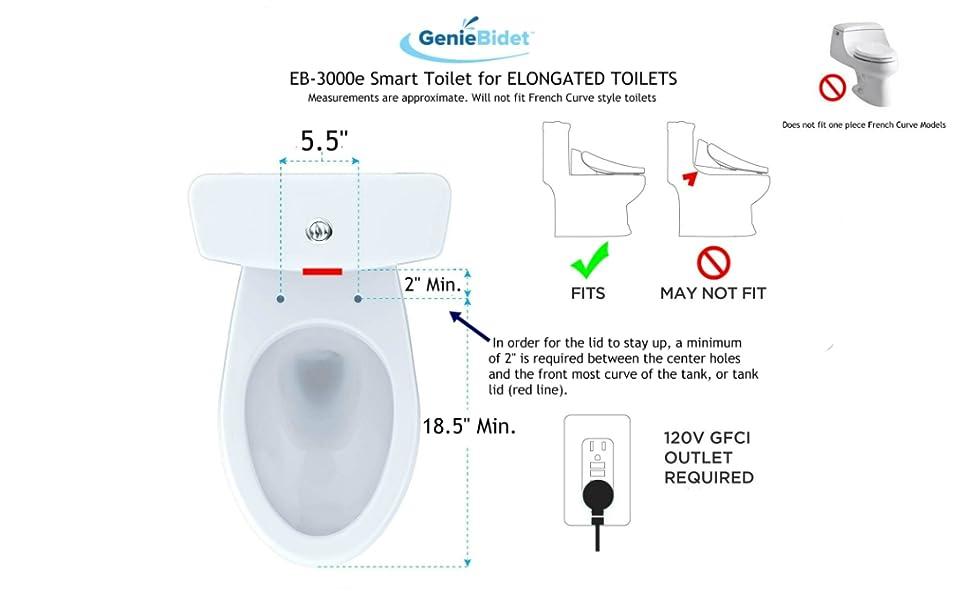 autonettoyant Bidet si/ège de toilette intelligent num/érique /électrique chauff/é