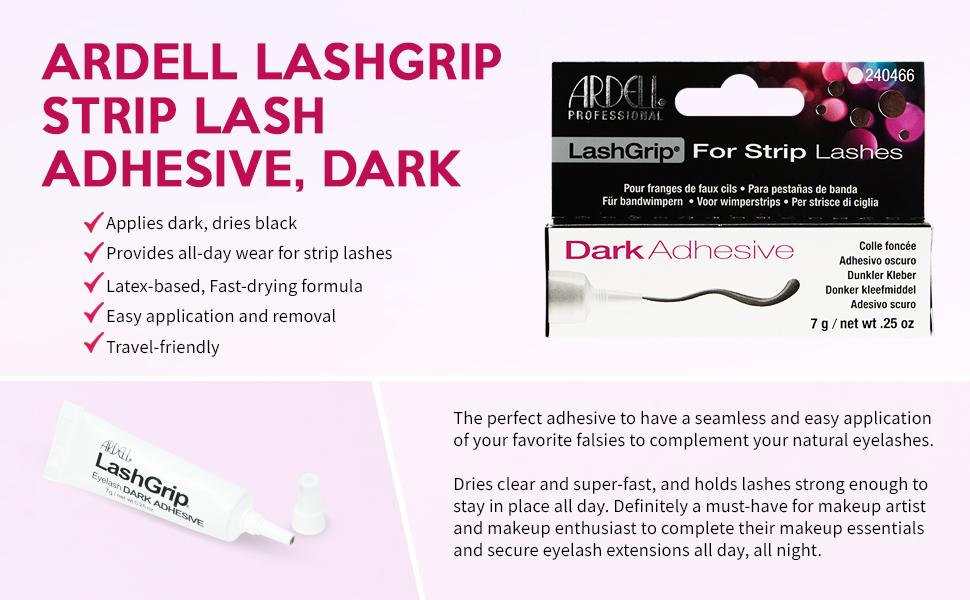 Ardell LashGrip Strip Adhesive - Dark .25 Oz, 4 pack