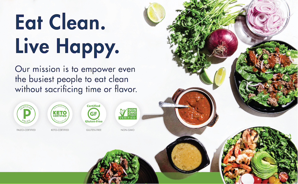 Eat Clean, Live Happy with Kevin's Natural Foods.