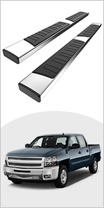 YITAMOTOR 6 inch Running Boards Compatible with 2007-2018 Chevy Silverado/GMC Sierra 1500 Double Cab