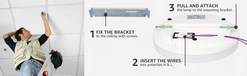 how to install led ceiling lamp