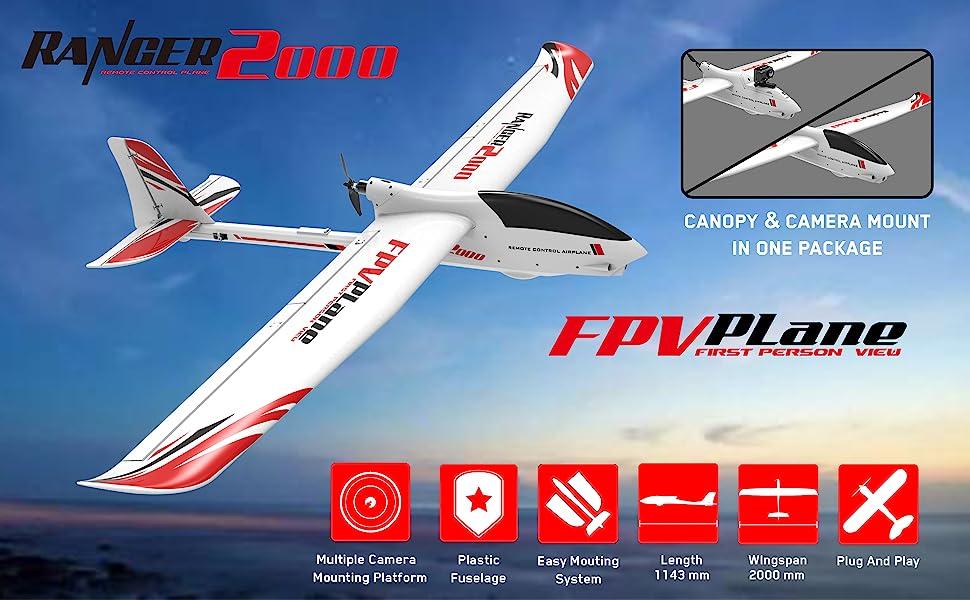 fpv rc sailplane remote control glider airplane radio controlles plane aircraft