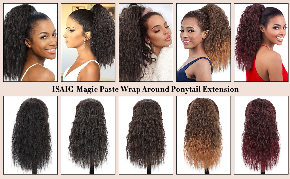Curly Ponytail Extension Wrap Around