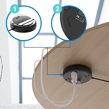 extension cord multiple spaced outlets