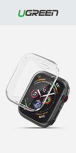 UGREEN 2 Pack Apple Watch Case Protective Apple Watch Series 4 Case TPU Ultra Thin iWatch