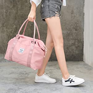 Womens travel bags, weekender carry on for women, sports Gym Bag, workout duffel bag, overnight bag
