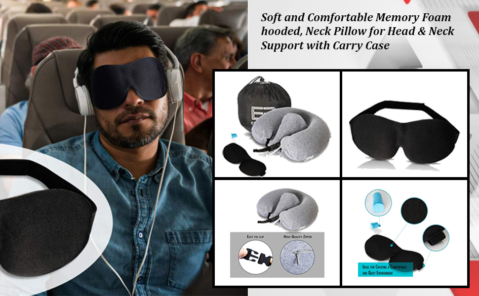 Travel Pillow with Hood