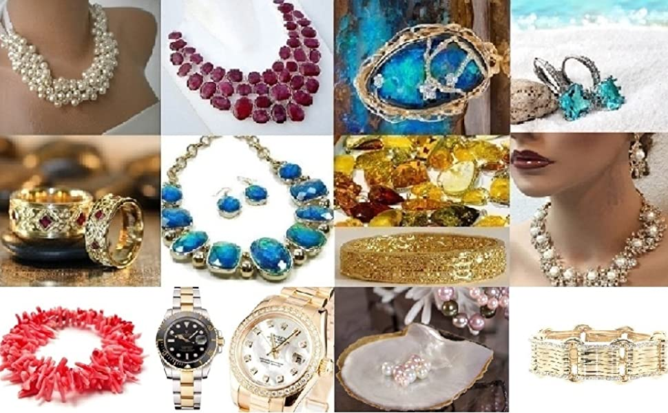 collage photos of jewelry pieces
