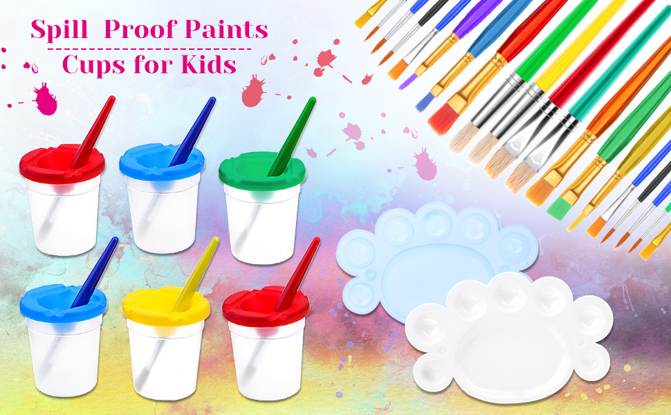 Non spill paint cups