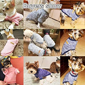 Idepet Pet Dog Classic Knitwear Sweater Fleece Coat Soft Thickening Warm Pup Dogs Shirt Winter Pet Dog Cat Clothes Puppy Customes Clothing for Small Dogs (Read The Size Chart First) 68