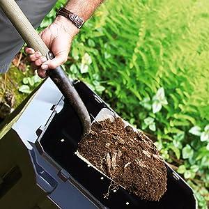 Retrait de l'humus composter jardinage travail jardin soleil été  pelle couvercle pliable plastique