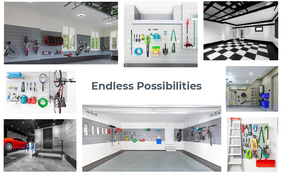 slatwall, crownwall, customization, modular, garage, full wall
