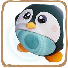 planet buddies, wireless speaker, speaker, bluetooth, eco, penguin, environment