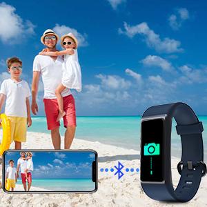 LATEC Pulsera de Actividad Inteligente, Impermeable IP68 Pulsera Inteligente con Pulsómetro 14 Moda Deportivo Podómetro Notificación de Mensajes para ...