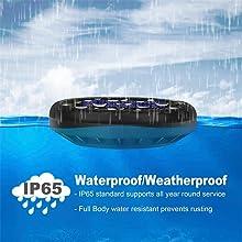 IP65 Water Resistant