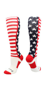 Stars and Stripes Football Socks Patriotic USA