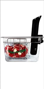 12 quart sous vide container with lid and rack nano anova joule