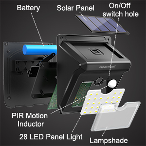 outdoor solar motion sensor light