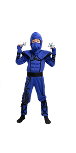 Silver Ninja Child Costume with Foam Accessories for Halloween Kids Kung Fu Outfit