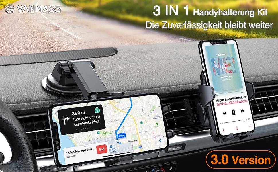 VANMASS Handyhalterung Auto 3 in 1 Lüftung &: Amazon.de