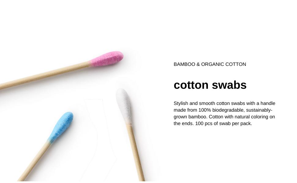 Cruelty Free Sustainably Grown Bamboo /& Cotton Nordics Vegan Blue 100/% Bio-Degradable Organic Cotton Bamboo Buds 100pcs