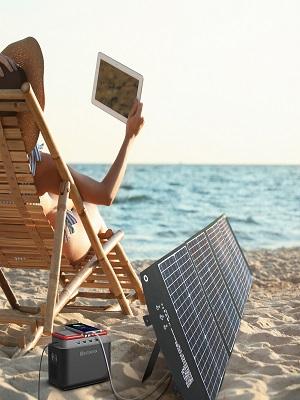 Multipurpose Renewable 120 Watt Foldable Solar Panel Portable Charger Kit