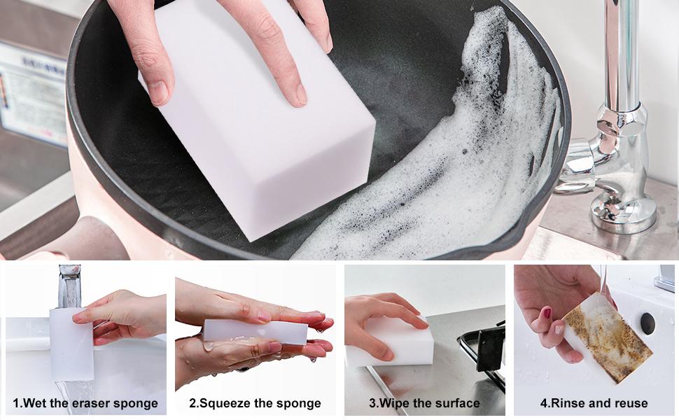 Magic Cleaning Sponges Eraser,  Premium Melamine Sponge Foam Cleaning Pads, Dish Sponges,