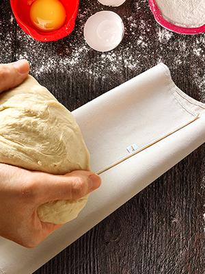 Orblue Baker's Couche Proofing Paño de la masa baguette paño de pan francés batards ciabatta panes pasta