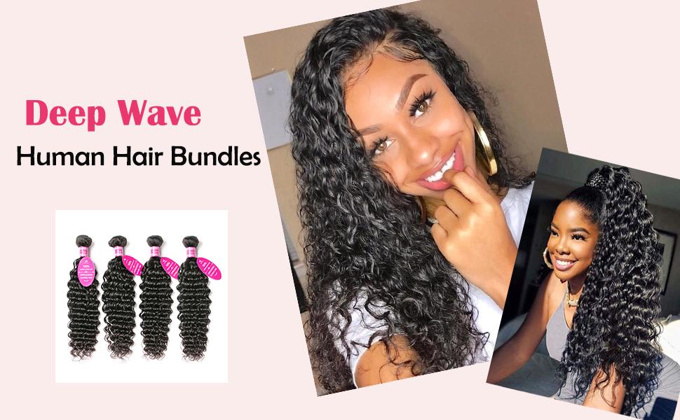 deep wave human hair bundles