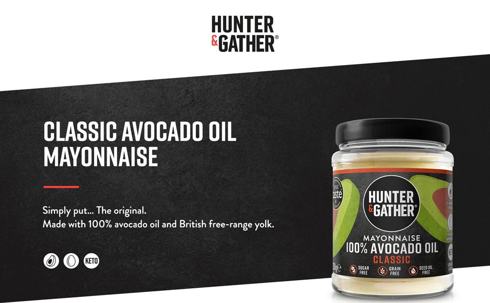 Hunter & Gather 2 X 250g (Pack Doble) Mayonesa De Aguacate | Hecha Con Aceite De Aguacate Puro Y Yema De Huevos De Pollos De Granja Británicos, Sin ...