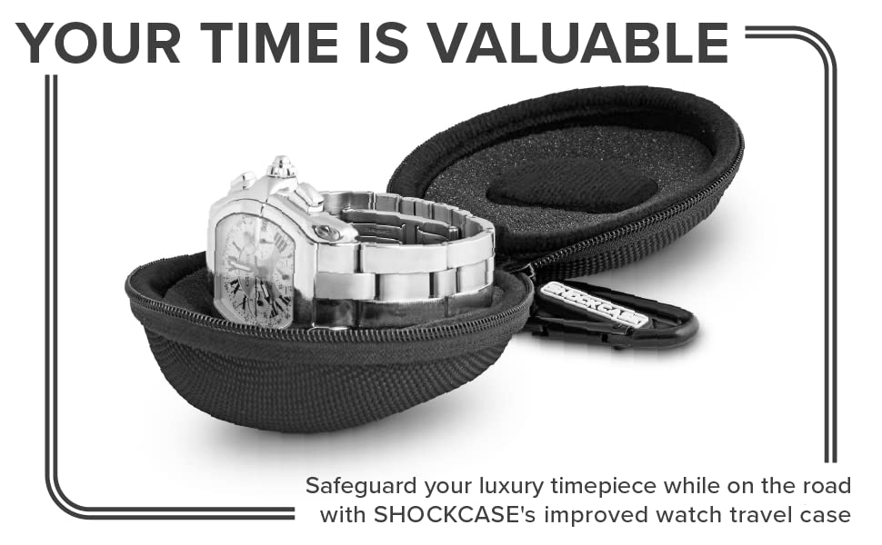 Your Time Is Valuable. Safegurad your luxury timepiece while on the road w/ shockcase's improved