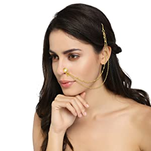 nath nose ring for wedding, nose ring without piercing, nose ring for women traditional