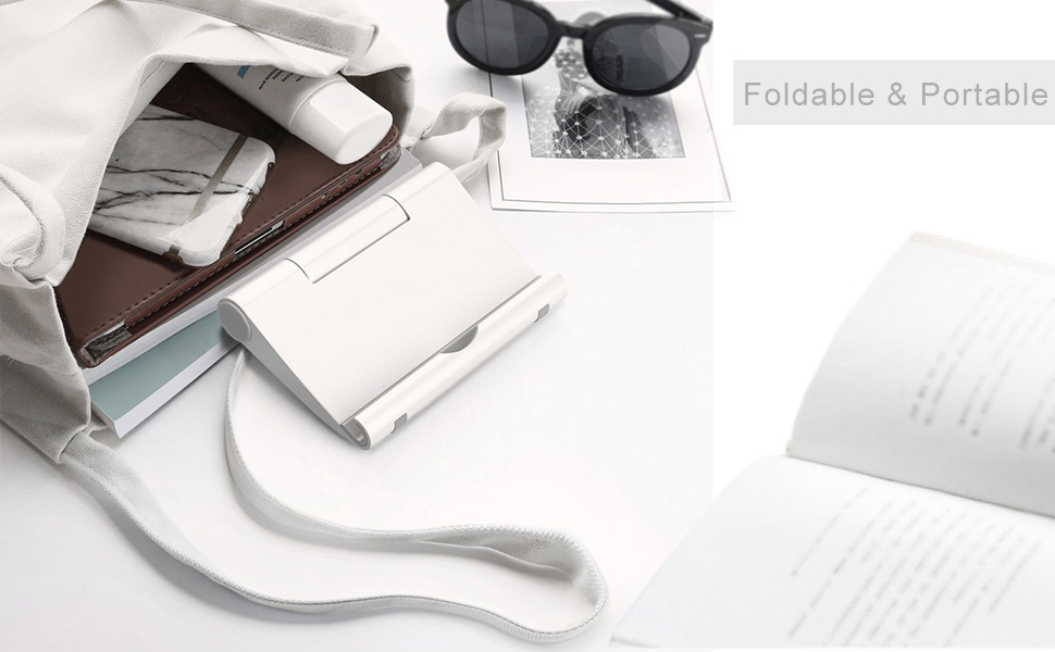 Foldable Portable Phone Stand A Perfect Companion for Travel Easy to Carry in The Travel Bag