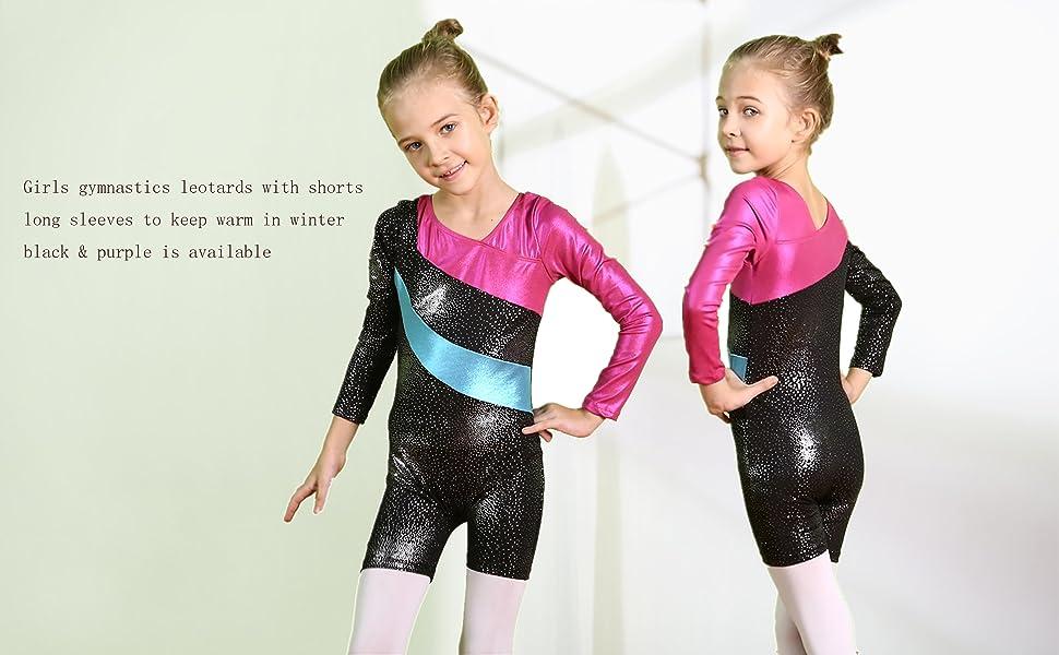 girls gymnastics leotards size 5-6 black