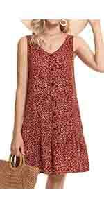 summer button dress