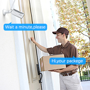two-way audio  【2020 Upgrated】 Wireless Outdoor Security Camera, WiFi 1080P Solar Security Camera 10400mAh Rechargeable Battery, PIR Motion Detection, Night Vision, 2-Way Audio, 3 Antenna, IP67 Waterproof, Cloud SD af42689e 0de4 4603 ab36 55e6ca41a3ee
