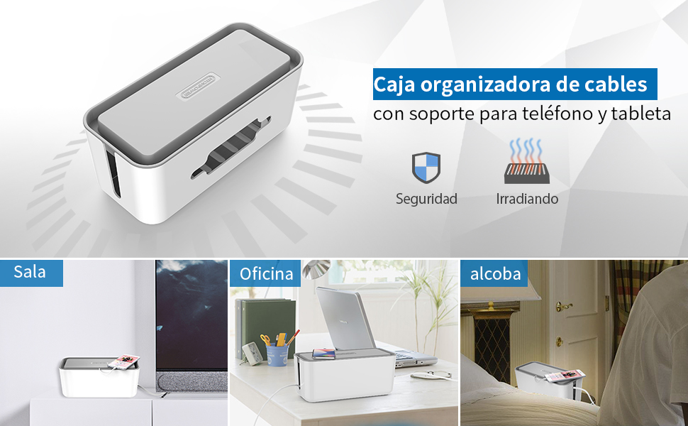 Caja Cables- NTONPOWER Protector de Cable Plástico caja, Caja de ...