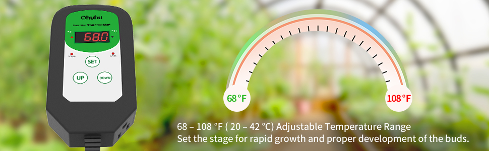 Ohuhu Digital Seedling Heat Mat Thermostat Controller Seed Germination Reptiles Temperature Control