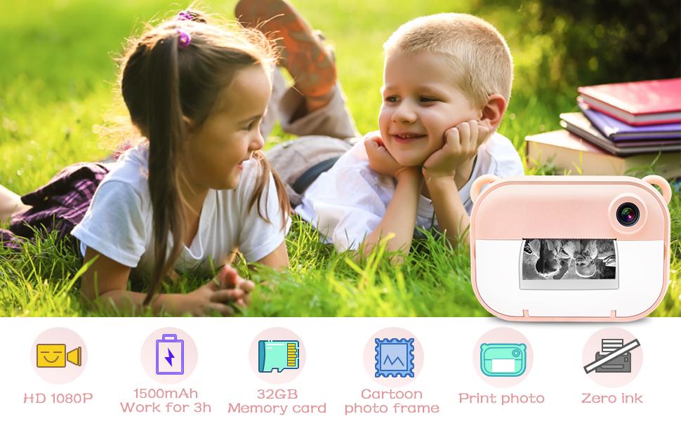 Instant Printing Kids Camera
