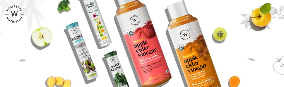daily greens, apple cider vinegar, ayurvedic kadha, probiotics