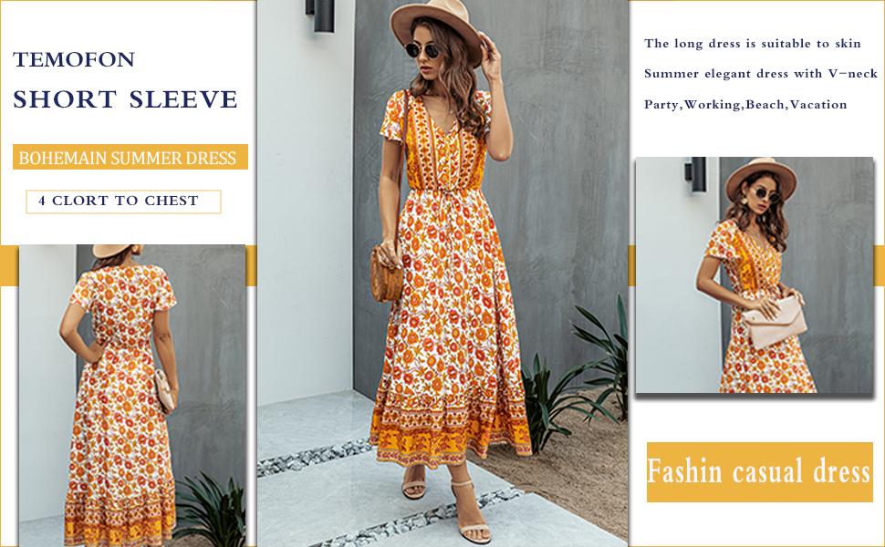 women summer dress short sleeve dress for women women long maxi dress for summer casual dress women