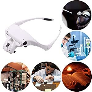 MOACC Lupa con Luz 2 LED, Lupas de Aumento para Modelismo ...