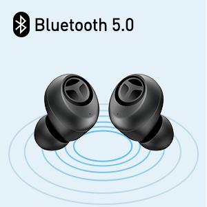 Fones de ouvido Bluetooth 5.0