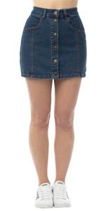 button down denim skirt, denim mini skirt, denim skirt, jean skirt, blue jean skirt