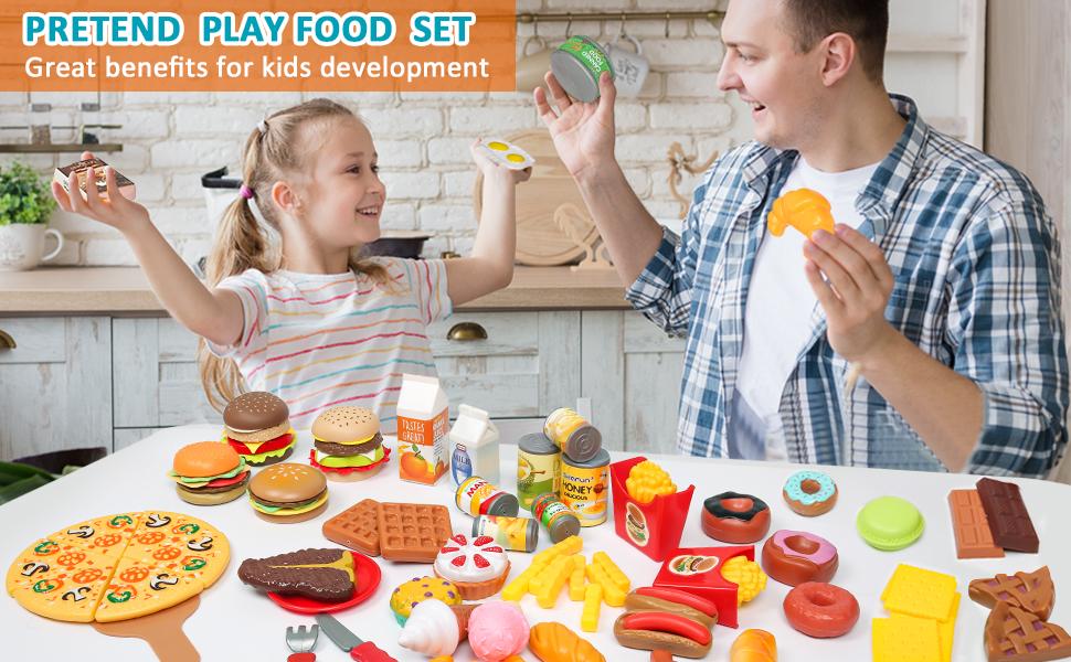 play kitchen food