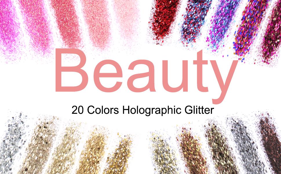holographic glitter chunky glitter