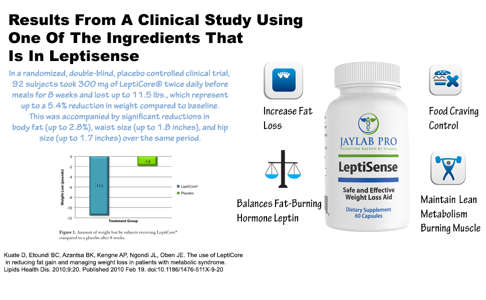 Amazon.com: JLP- Leptisense Registered Dietitian Formulated-Leptin  Supplements for Weight Loss-Leptin Resistance Supplements For Women-Weight  Loss Resistance- Appetite Suppressant- Best Appetite Control For Women:  Health & Personal Care