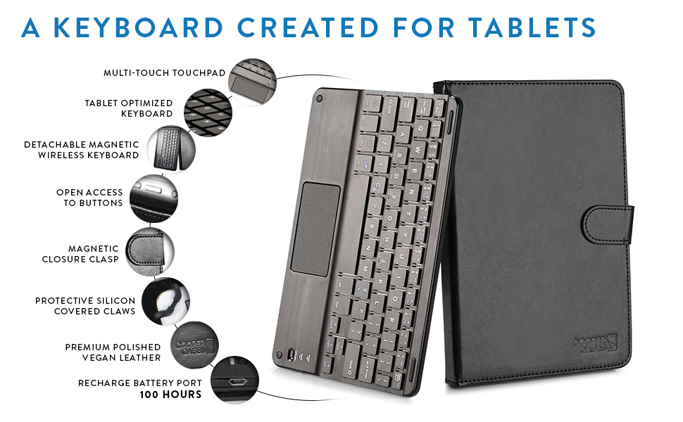 Cooper Touchpad Executive [Multi-Touch Mouse Keyboard] case for 9-11