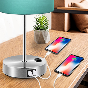 green nightstand dimmable lamp bedside table lamp dimmable lamp with usb port lamps for living room